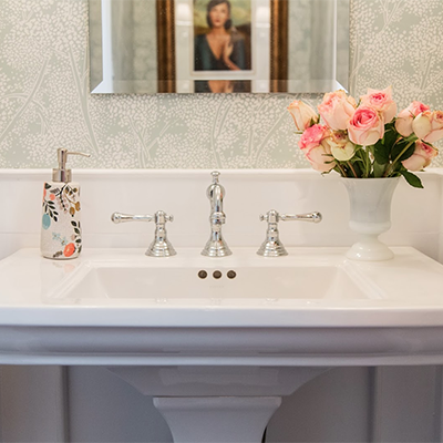 Vanessa Francis Design Powder Room