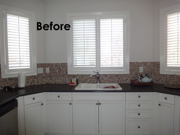 kitchen renovation, white cabinets, backsplash