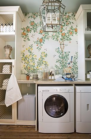 laundry room. Gracie wallpaper