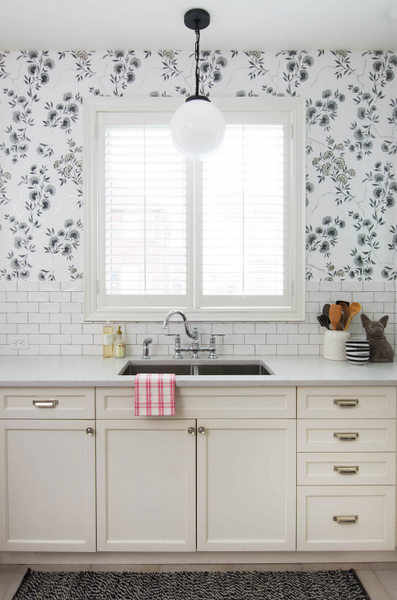 kitchen reno, wallpaper